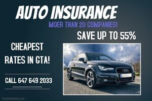 UP TO 55% SAVINGS ON YOUR AUTO INSURANCE!!