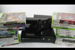 320GB XBOX 360 E / Controllers / Kinect / 30 Games