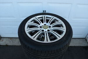 BMW 5 Series 245/45/18 Michelin Snows On Alloys 85% Tread