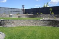 Retainer Walls and Patios! Over 30 years experience.