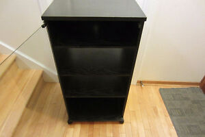 Vintage Audio stand,black,5 shelves,ideal for turntable.