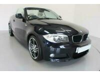 2013 BLACK BMW 118D 2.0 SPORT PLUS EDT 2DR CONVERTIBLE CAR FINANCE FR £177 PCM