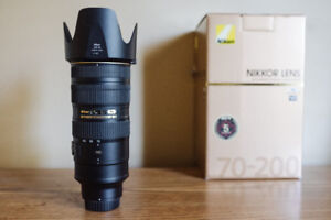 Great Condition Nikon NIKKOR 70-200mm 2.8 VR II ED