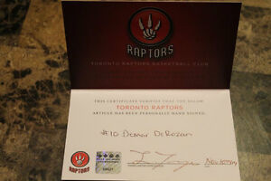 signed raptors basketball with certificate of authenticity London Ontario image 3