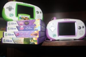 **** 2 Leapster Explorer Devices and 5 Games *****