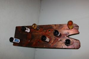 Wine rack - hand made solid wood work, holds 11 bottles of wine