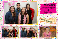 Professional photo booths. Digital and dye sublimation printing!