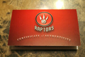 signed raptors basketball with certificate of authenticity London Ontario image 2