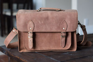 Genuine Distressed Leather Camera Bag - New with tags