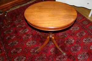 Oval claw foot end table