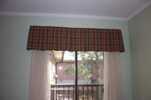 2 Plaid Window Valences