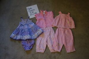 Girls summer clothes size 18-24 months