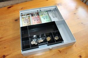Professional Cash Box With Spring Loaded Bill Holders