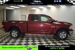 2017 RAM 1500 OUTDOORSMAN QUAD 4X4 - BACKUP CAM*UCONNECT