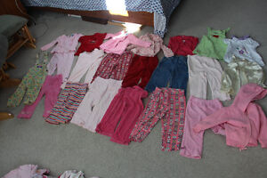 Lot of Girls Size 18months 13 pairs pants and 9 tops