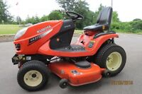 KUBOTA DIESEL LAWN TRACTOR WITH SNOW BLADE