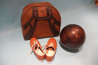 Bowling Kit by AMF (Bag, Ball, and Shoes)