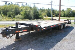 1991 Custom 20 Ton Tandem Axle Tag Trailer - 24 foot