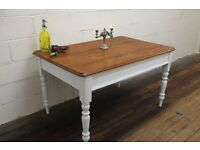 Victorian pitch pine table from Sunday school