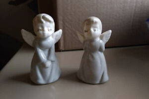 Ceramic angel figurines made in England