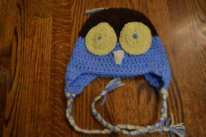 Brand new knitted owl hat for baby or toddler Peterborough Peterborough Area image 1