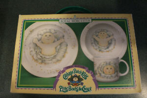 Cabbage Patch Kid Plate, Bowl and Mug Set