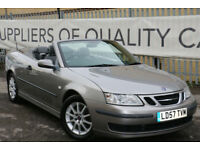 Saab 9-3 1.9TiD 2007 Linear CONVERTIBLE 2 PREVIOUS KEEPERS LOW MILES MINT CAR!!