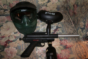 - Winchester Paintball Gun With Co2 Tank/Hopper/Mask -