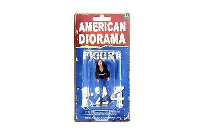 "STREET RACING CREW IV AMERICAN DIORAMA 1:24 Scale LADY FEMALE 3"" Figure"