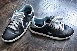 LACOSTE black leather casual shoes