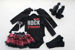 Set for girl, Size 12-18 & 18-24 M + black Boots, Size 5
