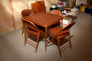 Folding Card table & 4 Chairs