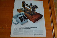 ANONCE 1968 WESTERN ELECTRIC TELEPHONE AD - SEWING MACHINE