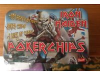 Very Rare Iron Maiden Poker Chips like new. Unopened playing cards and chips.