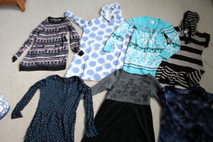 Lot of 7 Girls Size 7-8 Sweaters, Hoodies, and Dresses/Shirts