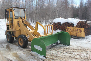 Compact Loader c/w Snow Pusher, Forks & Bucket