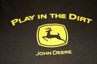 JOHN DEERE PLAY IN THE DIRT mens thermal shirt XL grt condition