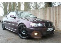 2004 BMW 330 3.0 Ci M Sport Convertible Individual Auto 50k Purple Rare Car p/x