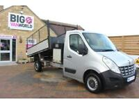2011 RENAULT MASTER LL35 DCI 125 LWB CAGED ALLOY TIPPER WITH SEPERATE TOOLBOX TI
