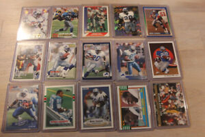 Barry Sanders 15-Card Lot (base & inserts) Including Topps RC