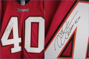 TAMPA BAY BUCCANEERS MIKE ALSTOTT #40 SIGNED AUTHENTIC JERSEY