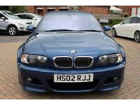 2002 02 BMW M3 3.2 M3 2D 338 BHP CONVERTIBLE LEATHER