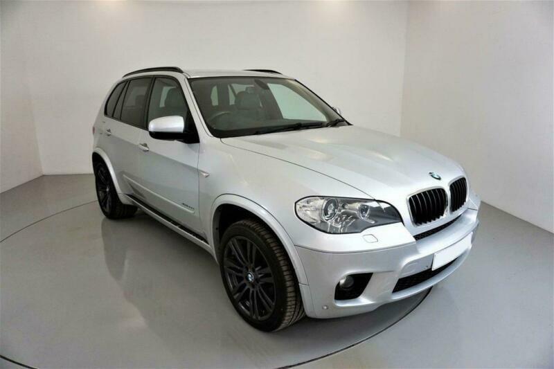 2012 SILVER BMW X5 3.0 XDRIVE30D M SPORT DIESEL AUTO 4X4 CAR FINANCE FR £257 PCM