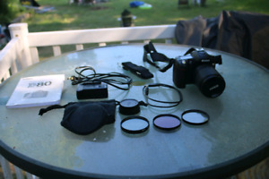 Nikon D-80 with 18 -135 lens and three lens filters