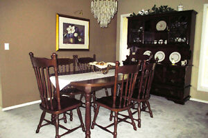 Dinning Room Suite - Table 6 Chair & Hutch