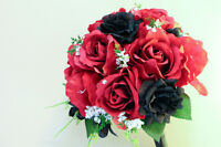 Center pieces and Silk bridal bouquets