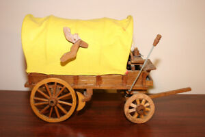 "Covered Western Cowboy Wagon - 10"" long X 9"" tall"