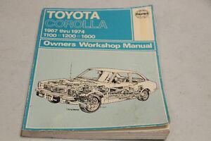 1967-1974 TOYOTA COROLLA OWNER'S WORKSHOP MANUAL