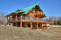 Custom Log Home on 18 acres - 3 bed/3 bath - $609,900