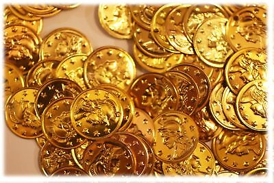 """Aluminum Jingle Coins Belly Dancing Jewelry Craft Costume 15mm ( 9/16"""" ) Gold"""